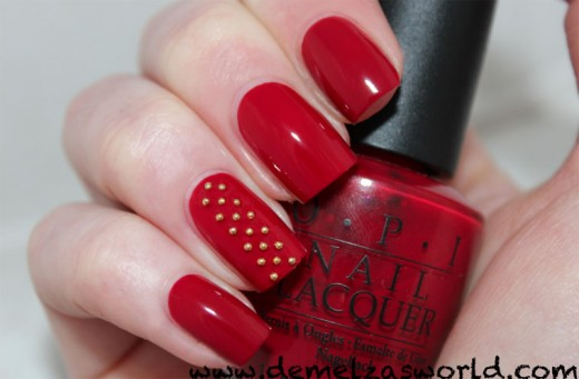 OPI – Little Red Wagon amp; Nail Art – Demelza39;s World