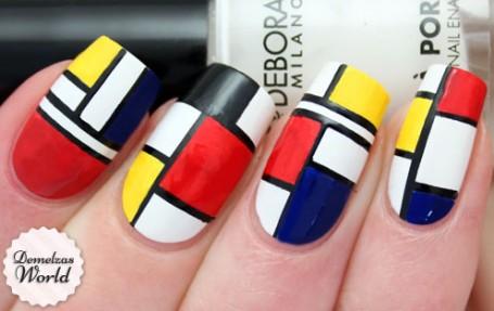 Piet Mondriaan Nail Art