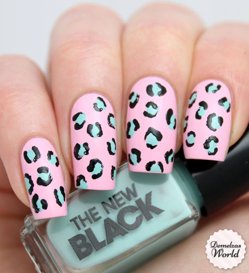 The New Black Leopard Manicure Nail Art - Video Tutorial: Leopard Manicure With The New Black – Shibuya