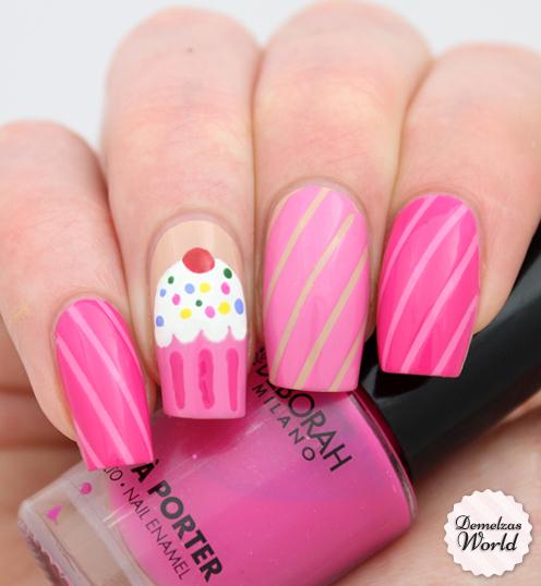 cupcake nail art for deborah milano – demelza's world