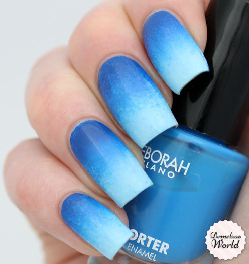 Gradient Nail Art: Video Tutorial: Blue Gradient For Deborah Milano