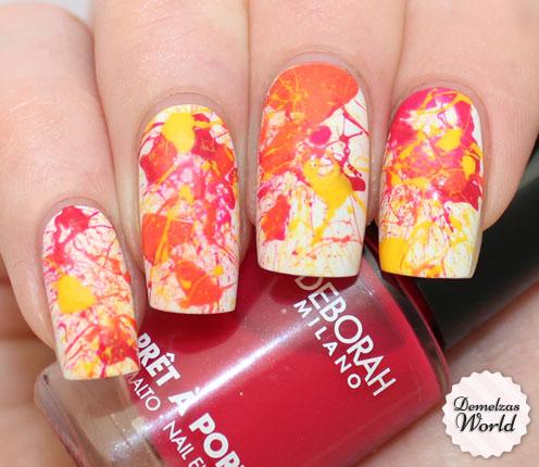 Splatter Manicure for DM Thumb