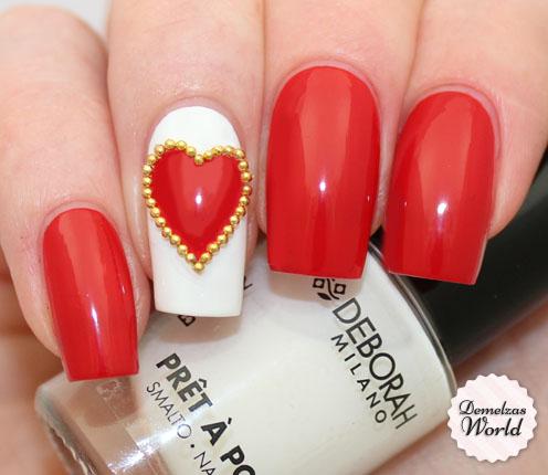 Deborah Milano - Studded Heart Nail Art