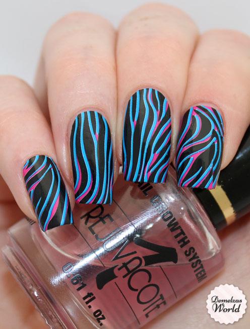 Omg Psychedelic Zebra Nail Strips Review Demelzas World