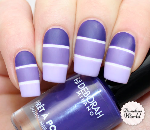 Deborah Milano - Purple Stripes Matte thumb
