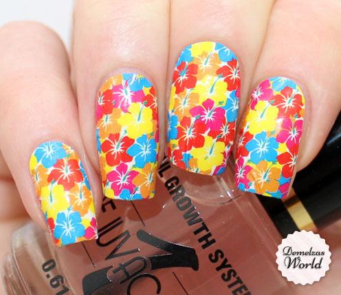 OMG Nail Strips Flowers Thumb
