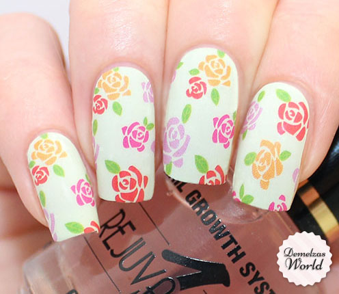 OMG Nail Strips Flowers Thumb