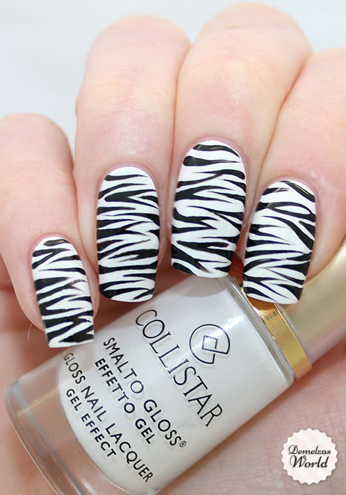 Zebra Nail Art 2 - Video Tutorial: Zebra Nail Art – Demelza's World