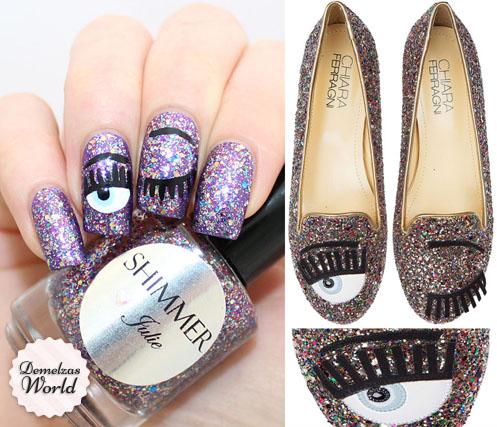 Chiara Ferragni Nail Art