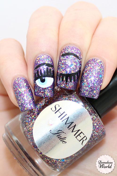 Shimmer - Julie Chiara Ferragni Nail Art
