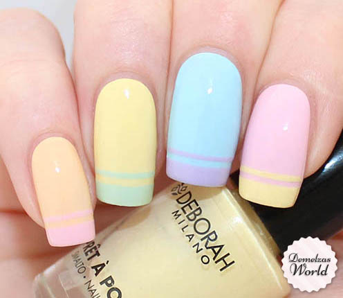 Double French Nail Art Thumb