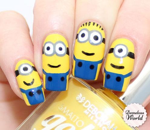 Minions Nail Art Thumb