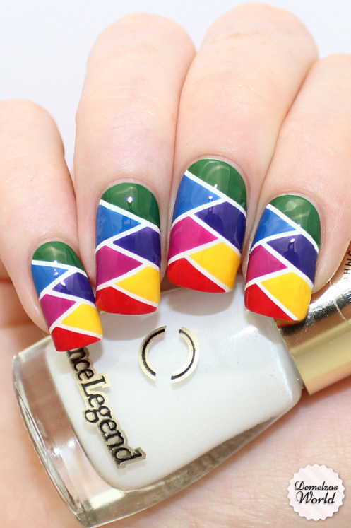 Herringbone Nail Art Video Tutorial Demelzas World