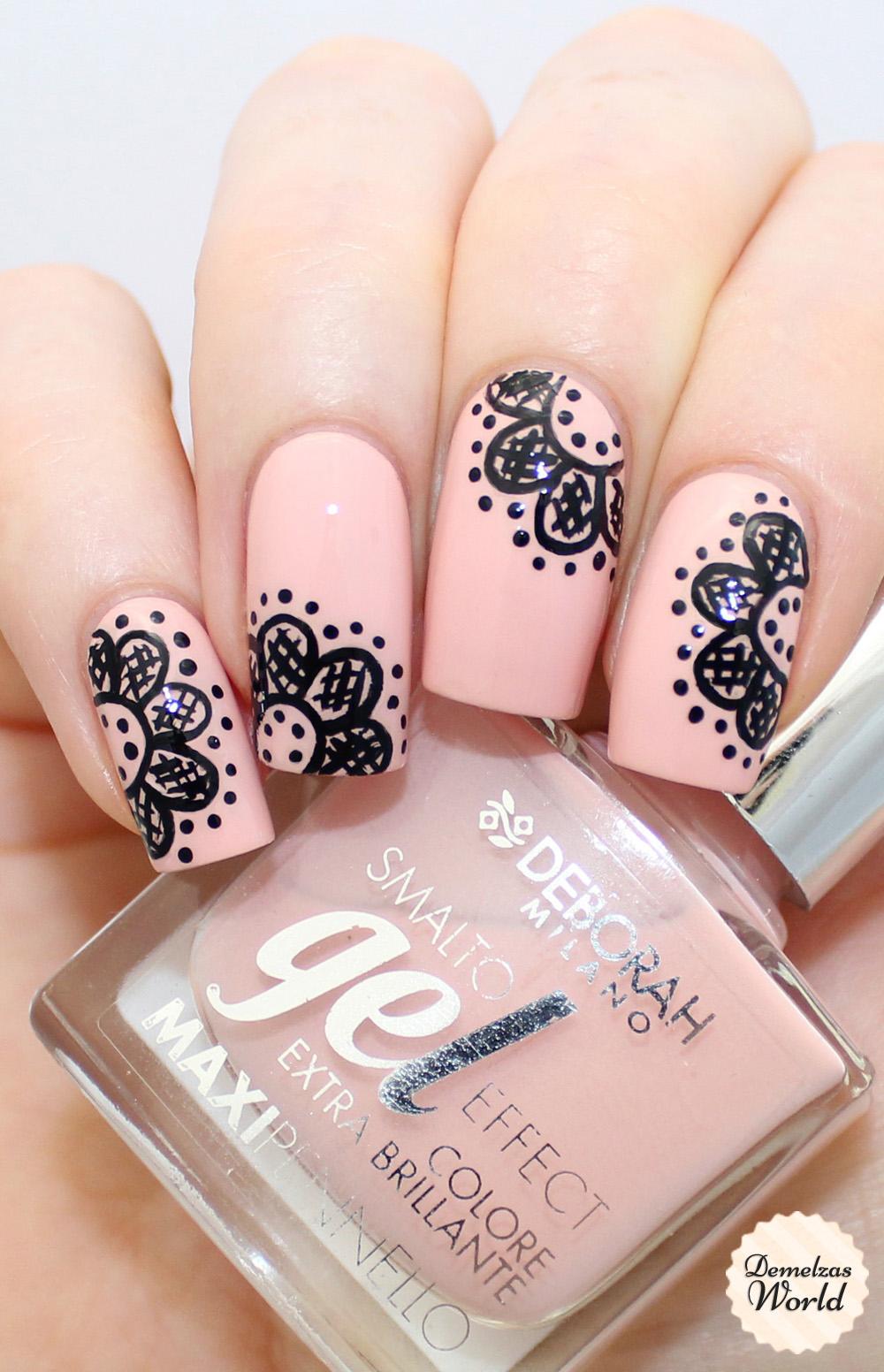 Lace Nail Art Video Tutorial for Deborah Milano Beauty Club ...