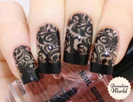 Negative Space Stamping Nail Art Thumb