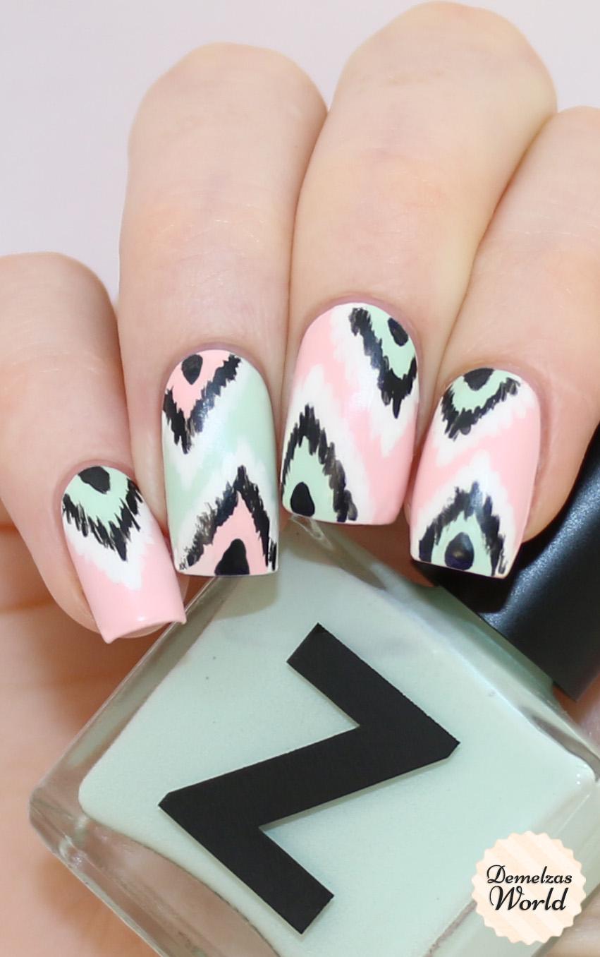 Ikat Nail Art Video Tutorial – Demelza\'s World