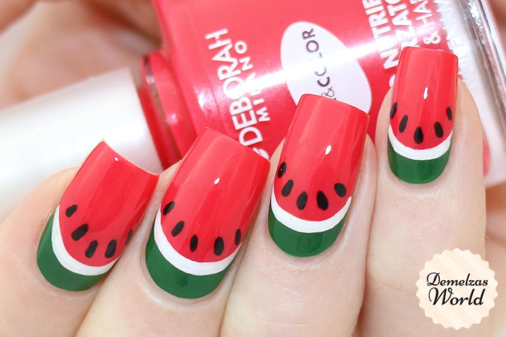 Watermelon Nail Art Video Tutorial – Demelza\'s World
